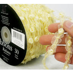 Prima - Lace Collection - Crème Rosette Shimmer Spool - 30 Yards