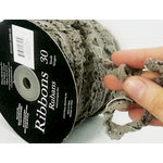 Prima - Lace Collection - Gray Crochet Ruffle Spool - 30 Yards
