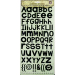 Prima - Textured Alphabet Stickers - Black, CLEARANCE
