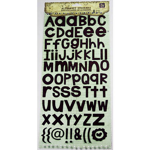 Prima - Textured Alphabet Stickers - Brown, CLEARANCE