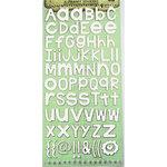Prima - Textured Alphabet Stickers - Snow White, CLEARANCE