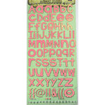 Prima - Textured Alphabet Stickers - Pink