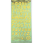 Prima - Textured Alphabet Stickers - Yellow, CLEARANCE