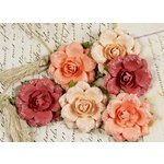 Prima - Tea Rose Collection - Mulberry Flower Embellishments - Santa Rosa