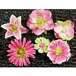 Prima - Melange Collection - Flower Embellishments - Pink, CLEARANCE