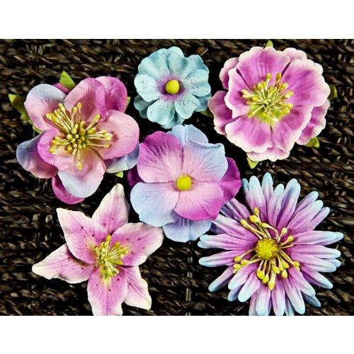 Prima - Melange Collection - Flower Embellishments - Blue Violet, CLEARANCE