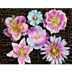 Prima - Melange Collection - Flower Embellishments - Blue Violet, CLEARANCE