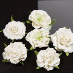 Prima - Lilliput Rose Collection - Flower Embellishments - Marshmellow