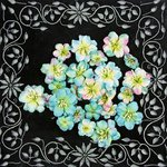 Prima - Athena Collection - Flower Embellishments - Skylight, CLEARANCE