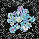 Prima - Athena Collection - Flower Embellishments - Blue Belle, CLEARANCE