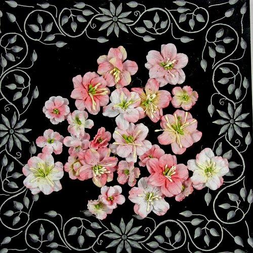 Prima - Athena Collection - Flower Embellishments - Aurora Pink