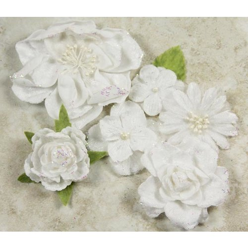 Prima - Symphony Blend - Flower Embellishments - Andante White, CLEARANCE