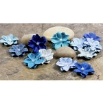 Prima - Pearl Penache Collection - Mulberry Flower Embellishments - Cosmic Blue, CLEARANCE