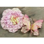 Prima - Andorra Collection - Jeweled Butterfly and Flower Embellishments - Pink, CLEARANCE