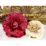 Prima - Grand Dame Collection - Fabric Flower Embellishments - Jubilee, CLEARANCE