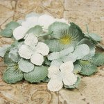 Prima - Calcutta Petals Collection - Fabric Flower Embellishments - Dusty Sage, CLEARANCE