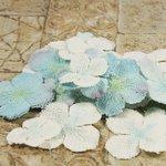 Prima - Calcutta Petals Collection - Fabric Flower Embellishments - Snowflake