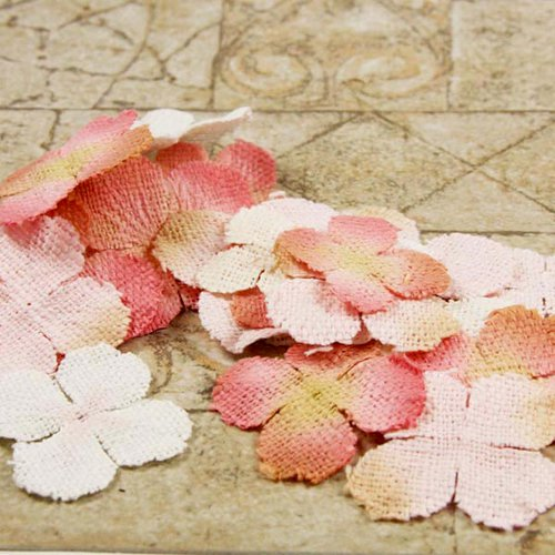 Prima - Calcutta Petals Collection - Fabric Flower Embellishments - Coralace, CLEARANCE
