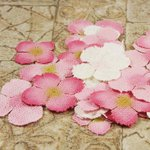 Prima - Calcutta Petals Collection - Fabric Flower Embellishments - Pink Ice, CLEARANCE