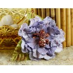 Prima - Calcutta Petals Collection - Flower Embellishments - Blue Iris, CLEARANCE