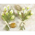 Prima - Mini Bouquet Collection - Miniature Mulberry Flower Bouquet - Miranda, CLEARANCE