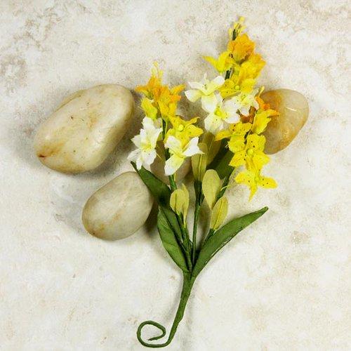 Prima - Mini Bouquet Collection - Miniature Fabric Flower Bouquet - Alyssa, CLEARANCE
