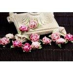 Prima - Cameo Roses Collection - Miniature Mulberry Flower Embellishments - Azalea