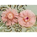 Prima - Zazi Collection - Fabric Flower Embellishments - Blush