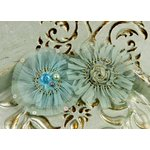 Prima - Zazi Collection - Fabric Flower Embellishments - Seafoam, CLEARANCE