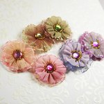 Prima - Ballerina Blooms Collection - Fabric Flower Embellishments - Dorae