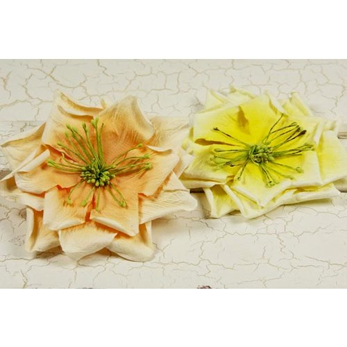 Prima fiesta collection layered paper flower embellishments prima fiesta collection layered paper flower embellishments citrus zest clearance mightylinksfo