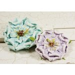 Prima - Fiesta Collection - Layered Paper Flower Embellishments - Water Lily