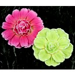 Prima - Dianthe Collection - Frosted Fabric Flower Embellishments - Mercado, CLEARANCE