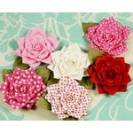 Prima - Love Story Collection - Flower Embellishments - Kissing Pink