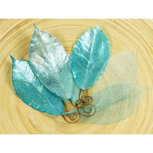 Prima - Temple Collection - Lacquered Leaves - Thalae Blue