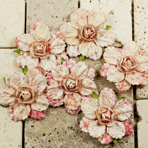 Prima - Belle Arte Collection - Mulberry Flower Embellishments - Sachette