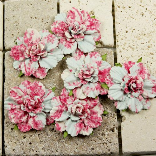 Prima - Belle Arte Collection - Mulberry Flower Embellishments - Roselle, CLEARANCE