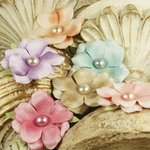 Prima - Ameruse Collection - Flower Embellishments - Pastel Mix, CLEARANCE