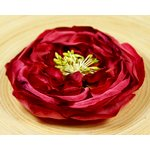 Prima - Cancan Vintage Collection - Layered Fabric Flower Embellishments - Lipstick