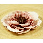 Prima - Cancan Vintage Collection - Layered Fabric Flower Embellishments - Pink Raffle