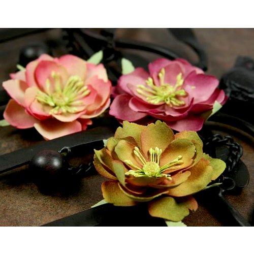 Prima - Primrosa Collection - Fabric Flower Embellishments - Woodland