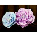 Prima - Camilla Collection - Fabric Flower Embellishments - Waterlily, CLEARANCE