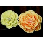 Prima - Camilla Collection - Fabric Flower Embellishments - Lemon Zest, CLEARANCE