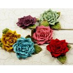 Prima - Watercolor Rainbow Collection - Flower Embellishments - Mix 1, CLEARANCE
