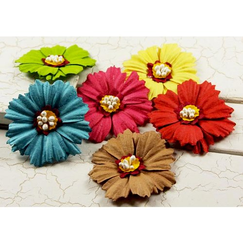 Prima - Raspberry Tea Collection - Flower Embellishments - Mix 1, CLEARANCE
