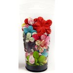 Prima - Raspberry Tea Collection - Flower Embellishments - Essentials Small, CLEARANCE