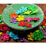 Prima - Tiny Tots Collection - Miniature Mulberry Flower Embellishments - Elf Mix, CLEARANCE