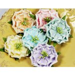 Prima - Pinata Petals Collection - Mulberry Flower Embellishments - Baja Mix, CLEARANCE