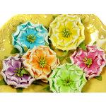 Prima - Pinata Petals Collection - Mulberry Flower Embellishments - Acapulco Mix