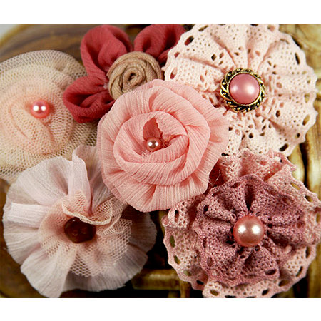 Prima - Madrigal Blossom Collection - Fabric Flower Embellishments - Maestro Mauve